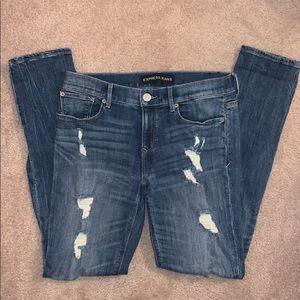 Express Women's Distressed Denim Jeans, Size 6R